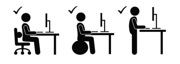 Alternate stand and sit during the workday